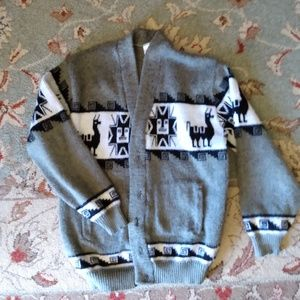 Vtg vintage Llama cardigan sweater 90's does 79's